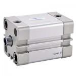 Cilindru pneumatic compact ISO 21287 dubla actionare seria ACE fara magnet Ø125 Cursa 10 mm - 125x10