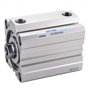 Cilindru pneumatic compact dubla actionare seria ACQ fara magnet, Piston Ø100 mm, Cursa 15 mm