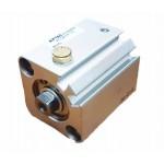 Cilindru pneumatic compact simpla actionare tija retrasa seria ACQ cu magnet Ø12 Cursa 15 mm - 12x15