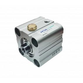 Cilindru pneumatic compact simpla actionare tija retrasa seria ACQ cu magnet Ø40 Cursa 10 mm - 40x10