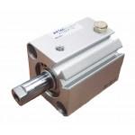 Cilindru pneumatic compact simpla actionare tija actionata seria ACQ cu magnet Ø12 Cursa 5 mm - 12x5