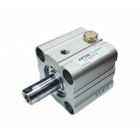 Cilindru pneumatic compact simpla actionare tija actionata seria ACQ cu magnet Ø40 Cursa 20 mm - 40x20