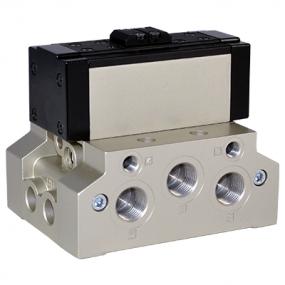Distribuitor 5/2 ISO 5599/1 bistabil actionare pneumatica