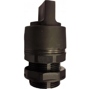 Buton tip selector negru pentru valve actionare mecanic