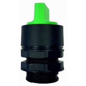 Buton tip selector verde pentru valve actionare mecanic