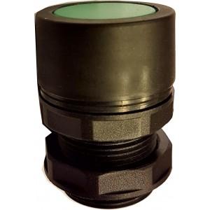Buton ingropat verde pentru valve actionare mecanic