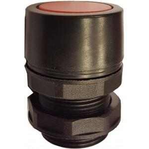 Buton ingropat rosu pentru valve actionare mecanic