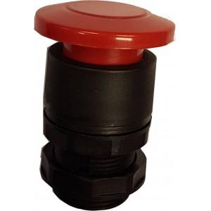 Buton tip ciuperca rosu pentru valve actionare mecanic