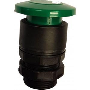Buton tip ciuperca verde pentru valve actionare mecanic