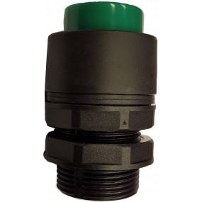 Buton inalt verde pentru valve actionare mecanic