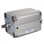 Cilindru pneumatic compact dubla actionare seria ACP cu magnet, Piston Ø80 mm, Cursa 25 mm