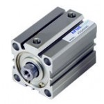 Cilindru pneumatic compact dubla actionare seria ACQ fara magnet, Piston Ø20 mm, Cursa 100 mm