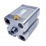 Cilindru pneumatic compact simpla actionare tija retrasa seria ACE fara magnet Ø80 Cursa 10 mm - 80x10