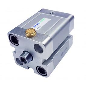 Cilindru pneumatic compact simpla actionare tija retrasa seria ACE fara magnet Ø20 Cursa 25 mm - 20x25