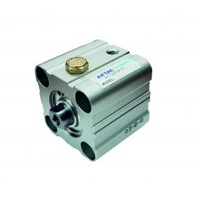Cilindru pneumatic compact simpla actionare tija retrasa seria ACQ fara magnet Ø50 Cursa 20 mm - 50x20