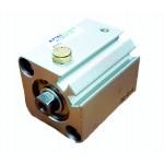 Cilindru pneumatic compact simpla actionare tija retrasa seria ACQ cu magnet Ø12 Cursa 10 mm - 12x10