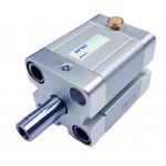 Cilindru pneumatic compact simpla actionare tija actionata seria ACE fara magnet Ø80 Cursa 5 mm - 80x5