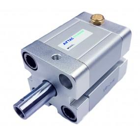 Cilindru pneumatic compact simpla actionare tija actionata seria ACE fara magnet Ø20 Cursa 5 mm - 20x5