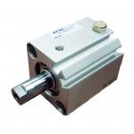 Cilindru pneumatic compact simpla actionare tija actionata seria ACQ cu magnet Ø12 Cursa 15 mm - 12x15