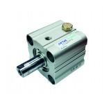 Cilindru pneumatic compact simpla actionare tija actionata seria ACQ fara magnet Ø40 Cursa 20 mm - 40x20