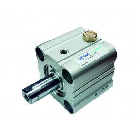 Cilindru pneumatic compact simpla actionare tija actionata seria ACQ fara magnet Ø25Cursa 15 mm - 25x15