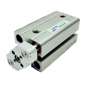 Cilindru pneumatic compact antirotatie dubla actionare seria ACQ fara magnet Ø80 Cursa 15 mm - 80x15
