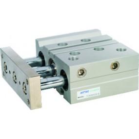 Cilindru pneumatic antirotatie Tri-rod ghidaj cu rulment liniar dubla actionare seria TC Ø63 Cursa 80 mm 63x80