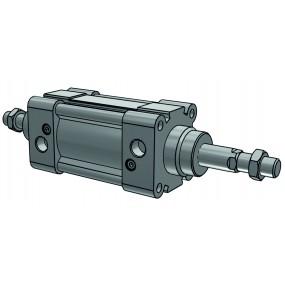 Cilindru pneumatic patrat ISO 15552 tija dubla, Piston Ø50 mm, Cursa 400 mm