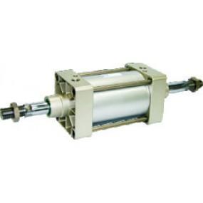 Cilindru pneumatic patrat ISO 15552 tija dubla Ø125 Cursa 250 mm - 125x250