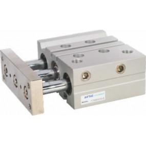 Cilindru pneumatic antirotatie Tri-rod ghidaj din alama dubla actionare seria TC Ø63 Cursa 200 mm 63x200