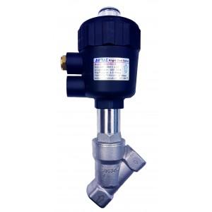 "Vana control fluide unghiulara din inox SUS304 apa/aer/ulei/ normal deschisa actionare pneumatica 3/8"""