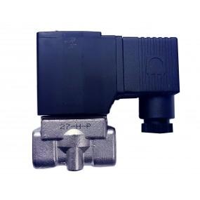 "Vana control fluide din inox apa/aer/ulei normal inchisa 1/2"" cu bobina si conector - 24VDC"