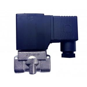 """Vana control fluide din inox apa/aer/ulei normal inchisa 1/4"""" cu bobina si conector - 110VAC"""