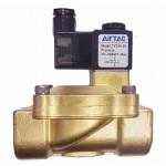 """Vana control fluide din alama apa/aer/ulei normal inchisa 3/8"""" orificiu 13 mm cu bobina si conector - 110VAC"""