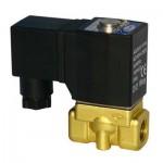 """Vana control fluide din alama apa/aer/ulei normal inchisa 1/2"""" orificiu 5 mm cu bobina si conector - 24VAC"""