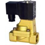 """Vana control fluide din alama apa/aer/ulei normal inchisa 1"""" orificiu 25 mm cu bobina si conector - 24VAC"""