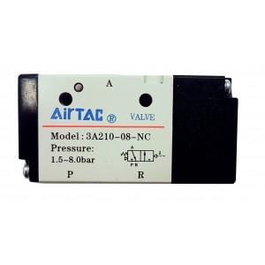 "Distribuitor monostabil comanda pneumatica 3/2 NC - G1/4"""