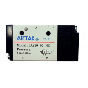 "Distribuitor monostabil comanda pneumatica 3/2 NC - G1/8"""