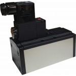 Electrovalva 5/2 monostabila ISO 5599/1 cu bobina si conector cu led prezenta tensiune - 24VAC
