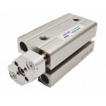 Cilindru pneumatic compact antirotatie dubla actionare seria ACQ fara magnet Ø40 Cursa 40 mm - 40x40