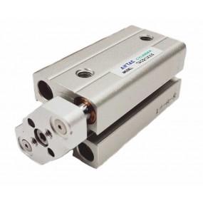 Cilindru pneumatic compact antirotatie dubla actionare seria ACQ fara magnet Ø20 Cursa 25 mm - 20x25