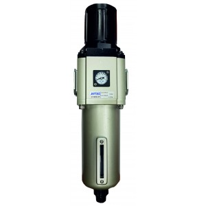 """Filtru 40 microni cu regulator de presiune si manometru incorporat purjare automata 3/4"""""""