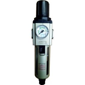 "Filtru 5 microni cu regulator de presiune si manometru exterior purjare semiautomata 1/2"""